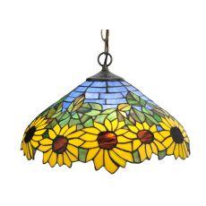 "16"" W Wild Sunflower Pendant"