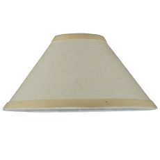 "8"" W X 4"" H Natural Linen Tapered Shade"