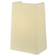 "7"" W X 10"" H Linen Antique Cream Half Shade"
