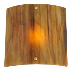 """11"""" W Metro Fusion Marble Glass Panel Wall Sconce"""