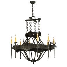 """40"""" W Stag 8 Lt Chandelier"""
