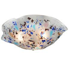 "18.25"" W Metro Fusion Organic Slumped Glass Flushmount"