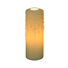 """2"""" W X 6"""" H Beeswax Ivory Flat Top Candle Cover"""