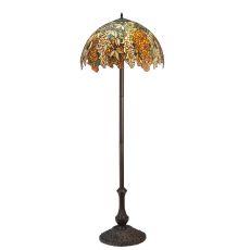 "63"" H Tiffany Laburnum Jadestone Floor Lamp"
