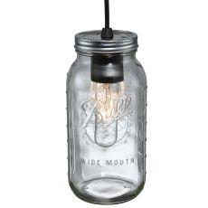 "4.75"" W Mason Jar Mini Pendant"