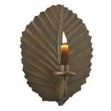 "8"" W Nicotiana Leaf Wall Candle Holder"
