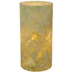 """4"""" W X 8"""" H Cylinder Jadestone Green Flat Top Candle Cover"""