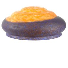 "14"" W X 6"" H Orange/Blue Pate-De-Verre 3 Tier Shade"