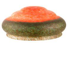 "14"" W Red/Green Pate-De-Verre 3 Tier Shade"
