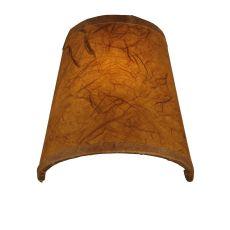 """4"""" W X 4"""" H Parchment Copper Kozo Shade"""