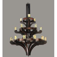 "63"" W Castilla Jadestone 21 Lt Three Tier Chandelier"