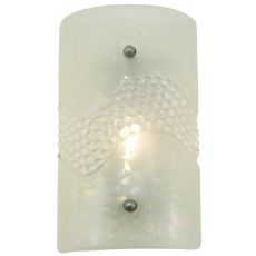 "9"" W Metro Fusion Coral Glass Wall Sconce"