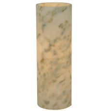 "3.4"" W X 9.75"" H Cylinder Jadestone Green Flat Top Candle Cover"