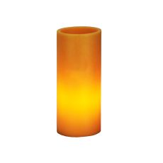 "3"" W X 8"" H Poly Resin Amber Flat Top Candle Holder"