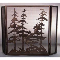 "40"" W X 30"" H Tall Pines Fireplace Screen"