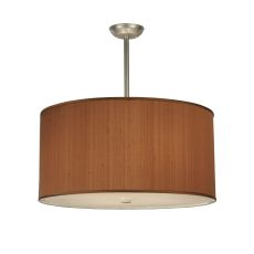"""24"""" W Cilindro Brown Textrene Pendant"""