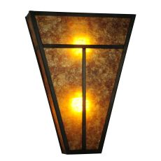 """14"""" W """" T""""  Mission Wall Sconce"""