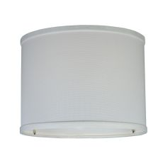 "8.25"" W White Linen Drum Shade"