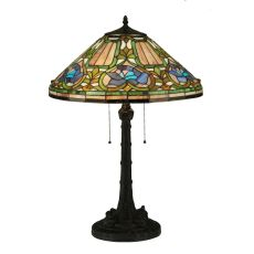 "26.5"" H Tiffany Floral Table Lamp"
