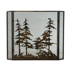 "51"" W X 40.5"" H Tall Pines Fireplace Screen"