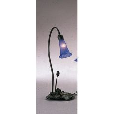 "16"" H Blue Pond Lily Accent Lamp"