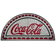 """65.5"""" W X 33"""" H Coca-Cola Tabernacle Stained Glass Window"""