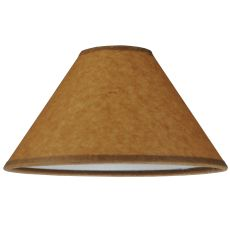 "8"" W X 4.25"" H Taos Brown Parchment Shade"