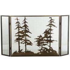 "56"" W X 30"" H Tall Pines Fireplace Screen"