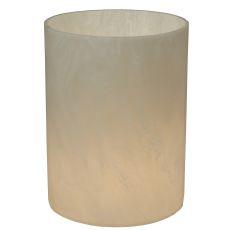 "6"" W X 8"" H Cylinder Alabaster Swirl Flat Top Shade"