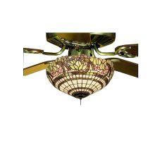 """15"""" W Handel Grapevine Fan Light Fixture"""