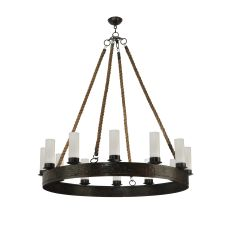 """50"""" W Costello Ring 12 Candles Chandelier"""