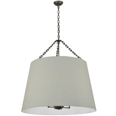"36"" W Cilindro White Tapered Pendant"