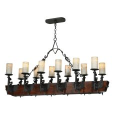 "60"" L Tudor Jadestone Led Oblong Chandelier"