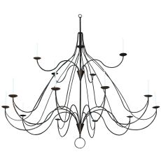 """96"""" W Polonaise 15 Candles Two Tier Chandelier"""