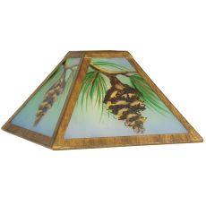 "10"" Sq Reverse Painted Balsam Pine Shade"