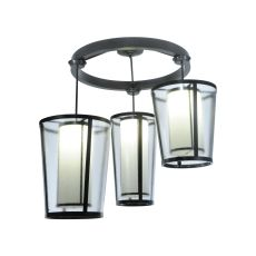 """74"""" W Cilindro Tapered 3 Lt Cascading Pendant"""