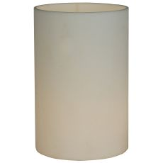 """4"""" W X 6"""" H Cylinder White Flat Top Shade"""