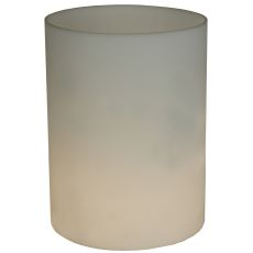 "6"" W X 8"" H Cylinder White Flat Top Shade"
