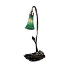 "16"" H Green Pond Lily Accent Lamp"
