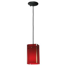 "5.5"" Sq Metro Red Quadrato Acrylic Mini Pendant"