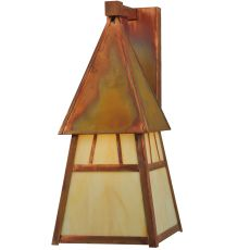 """7.40"""" Sq Stillwater Double Bar Mission Wall Sconce"""