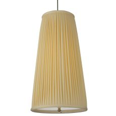 "13.25"" W Channell Tapered & Pleated Pendant"