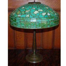 Original Tiffany Turning Leaf Table Lamp
