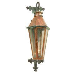 "14"" W Millesime Photocell Lantern Wall Sconce"
