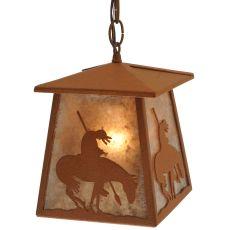 """7"""" Sq Trail'S End Lantern Pendant"""