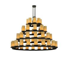 "72"" W Horizon Gold 4 Tier Chandelier"
