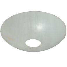 """7"""" W Metro Fusion White Bent Glass Bobeche"""