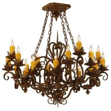 "37.5"" Sq Kimberly 20 Lt Chandelier"