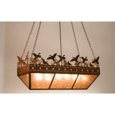 "48"" L Ducks In Flight Oblong Inverted Pendant"