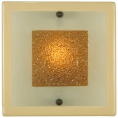 "12"" Sq Metro Fusion Bullion Glass Wall Sconce"